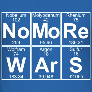 No -Re W-Ar-S (no more wars) - Full T-Shirts - Men's Slim Fit T-Shirt