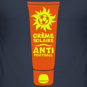 foot creme solaire anti football tube Tee shirts - Tee shirt près du corps Homme
