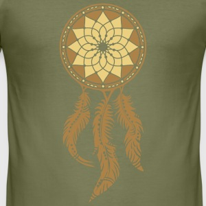 Dreamcatcher, Native Indians, feathers, sacred T-Shirts - Men's Slim Fit T-Shirt