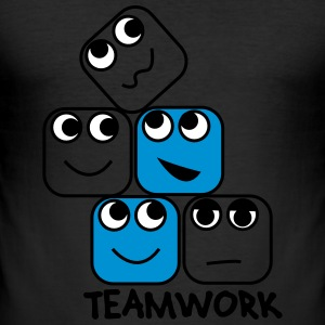 Teamwork T-Shirts - Männer Slim Fit T-Shirt