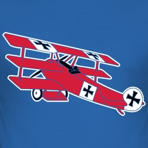 Fokker Airplane Flugzeug Roter Baron Red World War T-Shirts - Männer Slim Fit T-Shirt