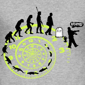 Evolution, Darwin, Fun, Lustig, Witzig, Cool - Männer Slim Fit T-Shirt
