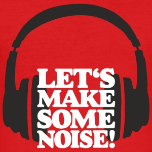 Let's make some noise Headphone White Digital T-Shirts - Men's Slim Fit T-Shirt
