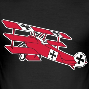 Fokker Airplane Flugzeug Roter Baron Red World War T-Shirts - Men's Slim Fit T-Shirt