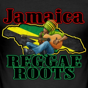 jamaica reggae roots Tee shirts - Tee shirt près du corps Homme