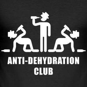 Anti-Dehydration Club (Party) T-Shirt - Männer Slim Fit T-Shirt