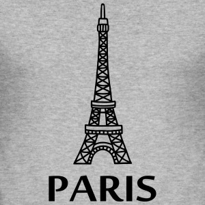 Paris - Eiffel Tower T-Shirts - Men's Slim Fit T-Shirt