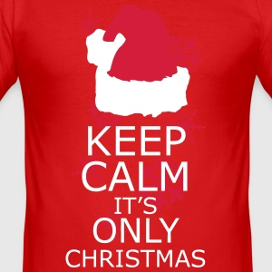Keep Calm, Its Only Christmas T-Shirts - Men's Slim Fit T-Shirt
