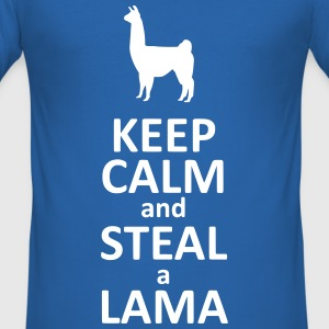 Keep calm and steal a Lama Tee shirts - Tee shirt près du corps Homme