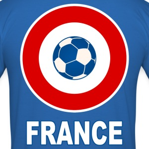 cocarde football tricolore Tee shirts - Tee shirt près du corps Homme