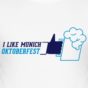 I like Münchner Oktoberfest / Wiesn _horizontal - Männer Slim Fit T-Shirt