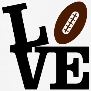 Love American Football T-Shirts - Männer Slim Fit T-Shirt