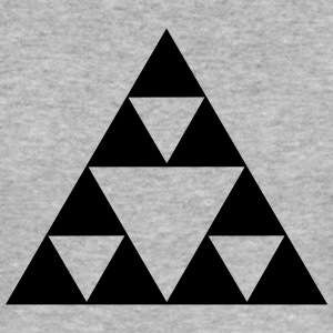 Triangle mathematics, Sierpinski fractal, geometry T-Shirts - Men's Slim Fit T-Shirt
