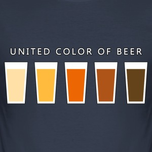 United Color OF BEER (dd) T-Shirts - Men's Slim Fit T-Shirt