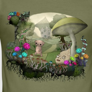 Teddy and the shrooms T-Shirts - Männer Slim Fit T-Shirt