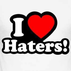 I LOVE HATERS - I LOVE ENVY T-skjorter - Slim Fit T-skjorte for menn