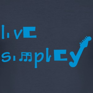 live simpley - Männer Slim Fit T-Shirt