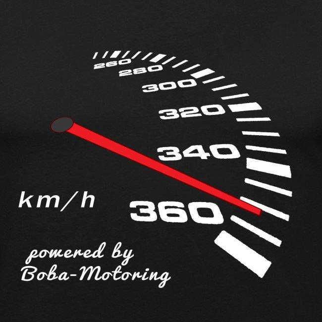 Turbo Tacho Extrem Tuning weißes Design