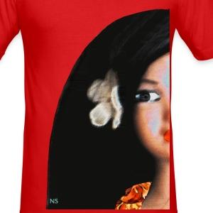 Hula Girl Encore T-Shirts - Männer Slim Fit T-Shirt