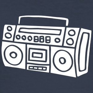 Ghettoblaster Radio Stereo Sound Bass Music Musik T-shirts - slim fit T-shirt