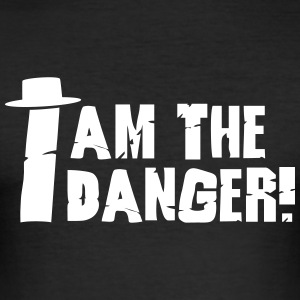 I am the danger with hat T-Shirts - Männer Slim Fit T-Shirt