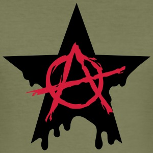 Anarchy star chaos symbol rebel revolution punk T-Shirts - Men's Slim Fit T-Shirt