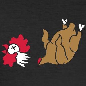 Hahn Cock Hähnchen Chicken Wings Broiler Cockfight T-shirts - Herre Slim Fit T-Shirt