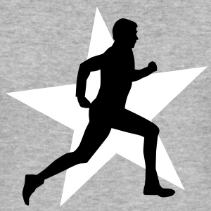 running male ii with star 2c T-shirts - Slim Fit T-shirt herr