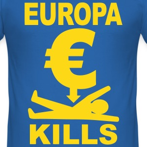 europa euro T-Shirts - Men's Slim Fit T-Shirt