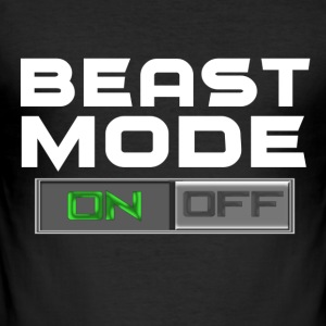 BEAST MODE ON/OFF T-Shirts - Männer Slim Fit T-Shirt
