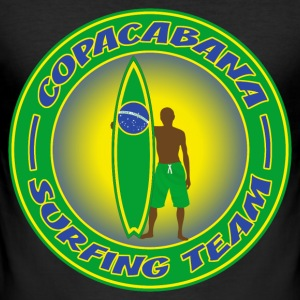 brazil surfing team 01 T-Shirts - Men's Slim Fit T-Shirt