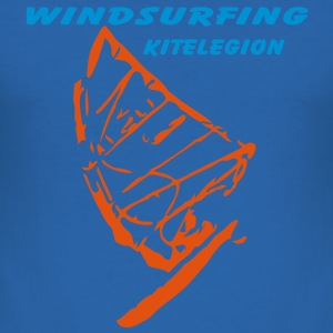 windsurfing_board_kl_vec_2de - Männer Slim Fit T-Shirt