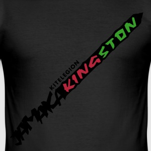 jamaica_kingston_vec_3de T-Shirts - Männer Slim Fit T-Shirt
