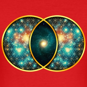 Vesica Piscis Galaxie Heilige Geometrie Evolution  T-Shirts - Männer Slim Fit T-Shirt