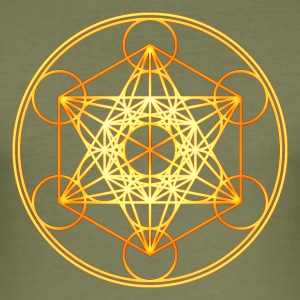 Metatron's Cube Sacred Geometry Mathematics Math T-skjorter - Slim Fit T-skjorte for menn