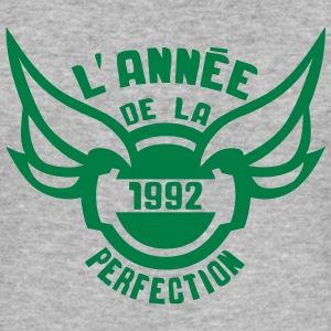 1992 annee anniversaire perfection logo Tee shirts - Tee shirt près du corps Homme