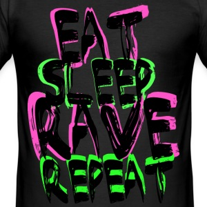 Rave Repeat T-shirts - Slim Fit T-shirt herr