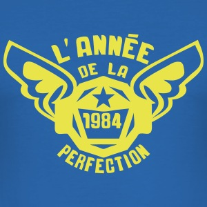1984 annee anniversaire perfection logo Tee shirts - Tee shirt près du corps Homme