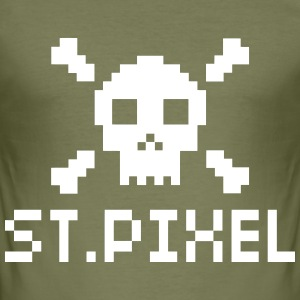 St. Pixel Nerd Shirt - Männer Slim Fit T-Shirt