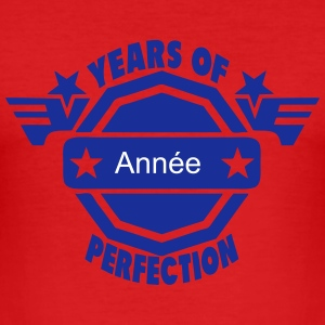 addieren Jahr years perfection logo 2  T-Shirts - Männer Slim Fit T-Shirt