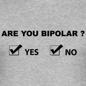 are you bipolar T-skjorter - Slim Fit T-skjorte for menn