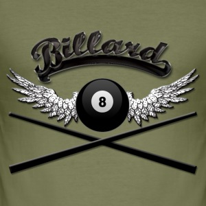 Billard Logo T-Shirts - Men's Slim Fit T-Shirt