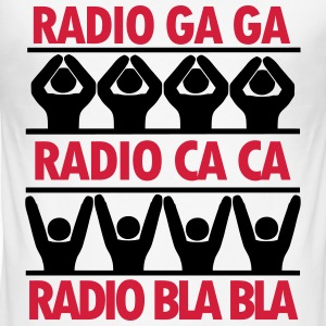radio ga ga T-Shirts - Men's Slim Fit T-Shirt