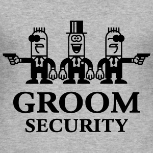 Groom Security Cartoon (Stag Party / 1C) T-Shirts - Men's Slim Fit T-Shirt