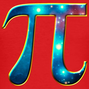 Pi π symbol Math Mathematics universe galaxy Space T-shirts - Slim Fit T-shirt herr