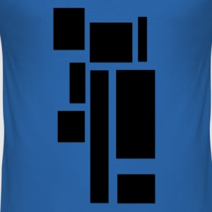 rectangles_noirs Tee shirts - Tee shirt près du corps Homme