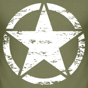 us vintage army star Tee shirts - Tee shirt près du corps Homme