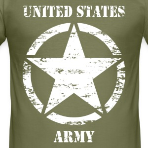 us vintage army star 02 T-Shirts - Men's Slim Fit T-Shirt