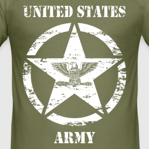 us vintage army star 03 Tee shirts - Tee shirt près du corps Homme
