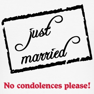 Just married-no condolences please! T-shirts - slim fit T-shirt